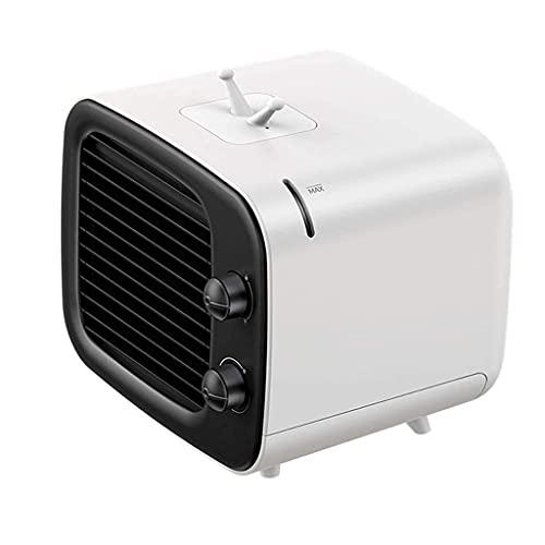 JYTFZD Refrigeradores evaporativos Mini Aire Acondicionado ABS 180 * 164 * 158mm Refrigeración Escritorio portátil USB Fan de refrigeración Ventilador (Color: Azul) (Color: Azul) (Color : Black)
