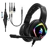 EMPIRE GAMING - Cuffie Gamer Dark Rainbow G-HD10 - Multipiattaforma - Audio Stereo ad Alta Definizione - Micro Flessibile Omnidirezionale - Compatibile PS4, Xbox One, Smartphone Tablet, PC e Mac.