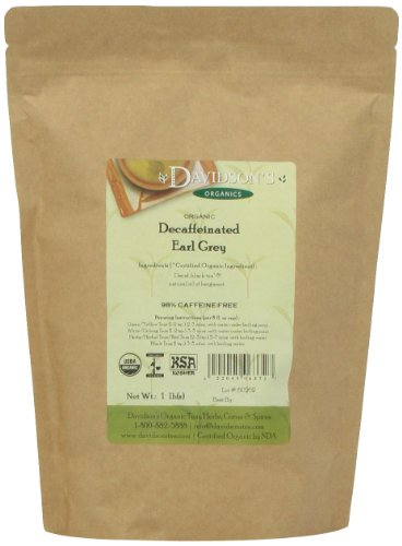 Davidson's Tea Bulk, Decaf Earl Grey, 1 lb Bag