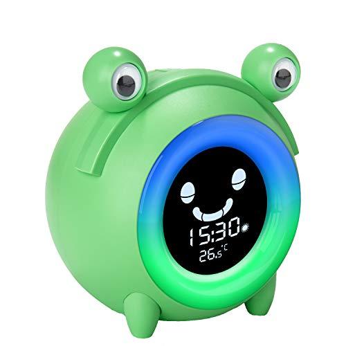 Kids Alarm Clock, Wake Up Light Digital Clock Sleep Trainer Night Light...