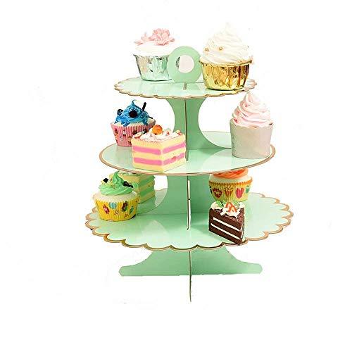 Yaeeee norte de Europa Cupcake Stand And Towers - 3 Nivel cumpleaños y una magdalena de la boda se - Este soporte magdalenas Es también grande for bebé duchas y Partes de Oficina - 3 Party Pack Alimen