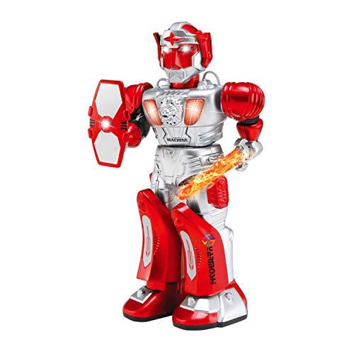 YARMOSHI 歩く ロボット おもちゃ 銃 バトルサウンド 柔軟な腕 点滅ライト 電池式 女の子 男の子 楽しい ギフト 8 x 4 x 15.4インチ 対象年齢2歳以上