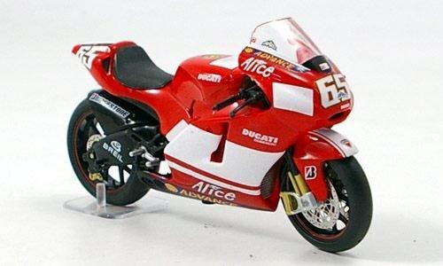 Ducati Desmosedici, No.65, 2005, modello di automobile, modello prefabbricato, IXO 1:24 Modello esclusivamente Da Collezione