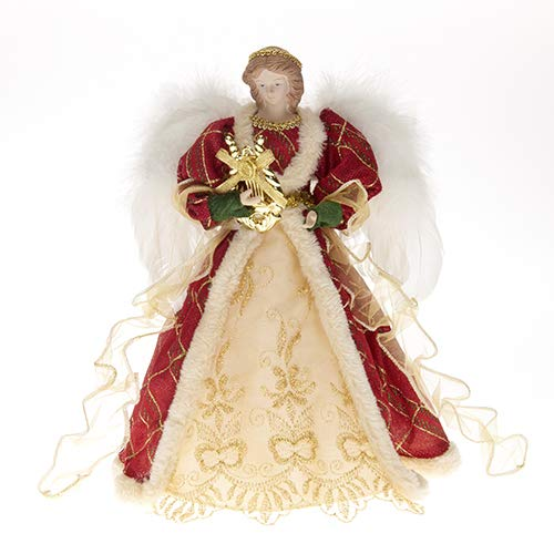 rf collection 32 cm Red Christmas Angel Christmas Tree Decoration Figure Tree Topper