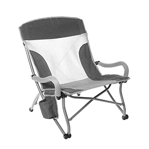 MYRCLMY Tragbarer Folding Camping Stuhl Low Beach Chair Für Camp Rasen Wandern Sport Jagd, Für Angelgarten Wandern Backpacking Reisen Außerhalb des Sitzes