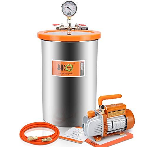 BACOENG 5 Gallon Vacuum Chamber Kit with Vacuum Pump Standard HVAC