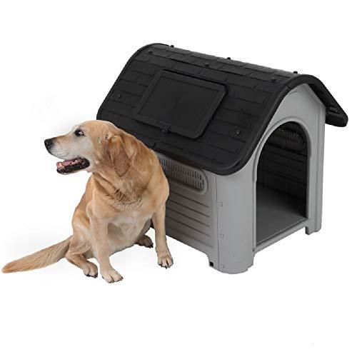 Zooplus - Caseta para perros de plástico duro para exteriores (tamaño grande)