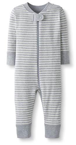 Moon and Back by Hanna Andersson Pyjama sans pied en coton bio pour tout-petits, bébés, Rayure grise, 3 ans (87-97 CM)