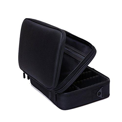 Grande Capacité Double Portable Simple Grand Cube Sac De Rangement Sac à Cosmétiques Couleur Unie,01-34*11*23cm