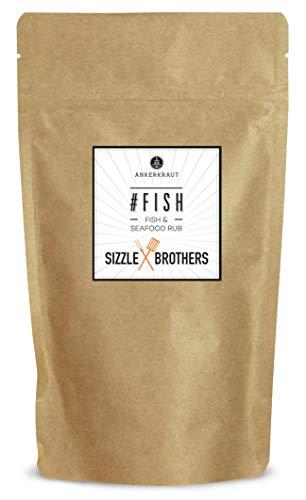 Ankerkraut #Fish, Gewürzmischung für Fisch, Seafood Rub von den Sizzle Brothers, 150g im aromadichten Beutel