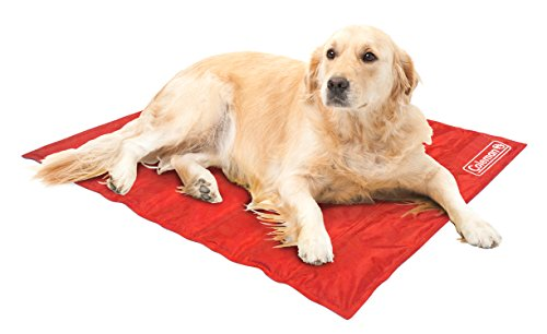 Coleman Comfort Cooling Gel Pet Pad Mat in Large 20x36, for Large Pets (Red)