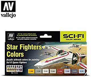 Vallejo 71612 Model Air Star Fighters 8 Colour Acrylic Airbrush Paint Set