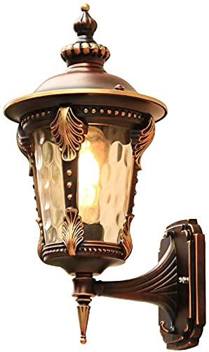 JZTOL Rustico Lampada da Esterno Lanterna di Forma Lampada da Parete per Esterni Porta Balcone Lampada da Parete per Illuminazione di Esterni Vintage Luce Parete Corridoio Applique
