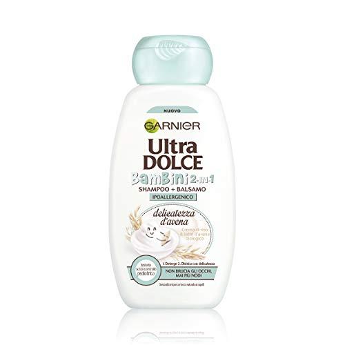 Garnier Shampoo 2in1 Ultra Dolce Delicatezza d'Avena 2in1 Kids, Per Capelli e Cute Delicati dei Bambini, 300 ml