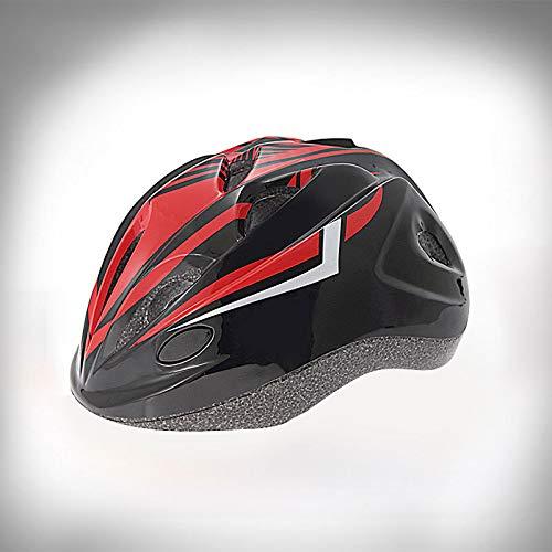 Casque de Skate pour Enfants Skate Scooter Bike Skate Helmet Scorpion Noir et Rouge (avec lumière LED) Régulateur de lumière codé Taille Unique