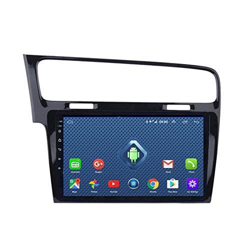 DGDD Android 10.0 9 Pulgadas 2.5D HD Pantalla Táctil Navegación GPS Coche Estéreo Radio Ser Aplicable para VW Golf 7 (2014-2018) Apoyo WiFi 4G FM Am Manos Libres Mirror Link SWC DSP 2G+32G
