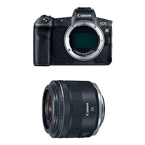 Canon EOS R Mirrorless Digital Camera (Body Only) and RF 35mm f/1.8 IS Macro STM Lens, Black