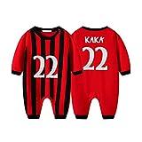DHRR Baby Football Romper Kaká # 22 Pijamas Algodón de Manga Larga Romper Baby Boys Sleepsuits Ropa de Dormir para 0-3 Meses Recién Nacido