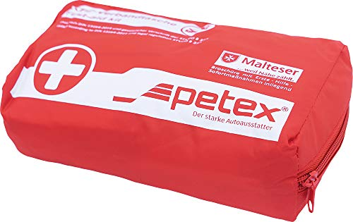 Petex 43930012 Verbandtasche Inhalt nach DIN 13164, rot