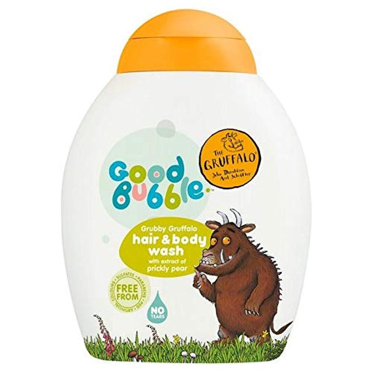 頻繁にアリ使役[Good Bubble ] ウチワサボテンエキス250ミリリットルとの良好なバブル汚いGruffaloヘア&ボディウォッシュ - Good Bubble Grubby Gruffalo Hair & Body Wash with Prickly Pear Extract 250ml [並行輸入品]
