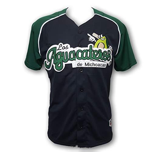 Los Aguacateros de Michoacan Men's Baseball White Jersey (Small)
