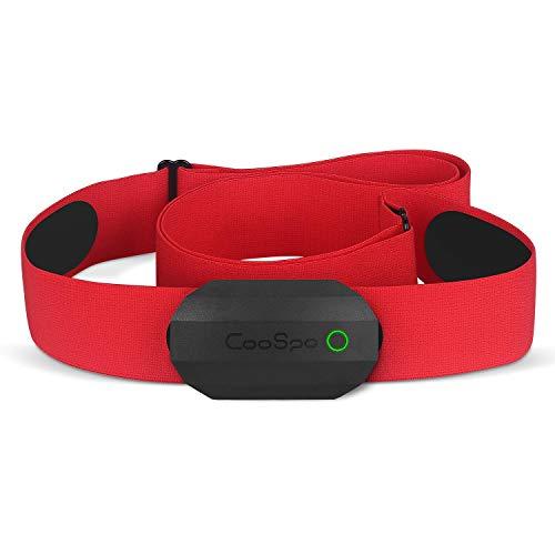 CooSpo Frecuencia Cardíaca Bluetooth Banda Monitor Sensor de Frecuencia Cardíaca Deportivo Ant+ para Garmin Wahoo Suunto Polar UA Run -SB-RD…