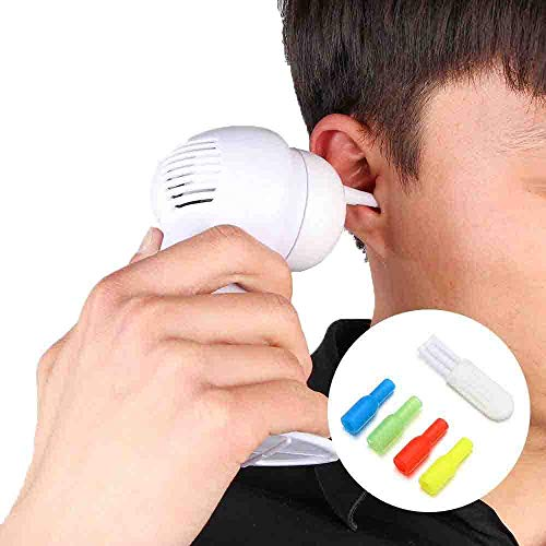 Ohrenschmalz Easy Remover, Ohrenreiniger Wachsentfernung Easy Swab Ohrenschmalzentferner Spiral Soft Ear Pick Tool (Elektrisch)