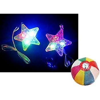 【光る玩具】ダイヤスターペンダント(36個入)  / お楽しみグッズ(紙風船)付きセット