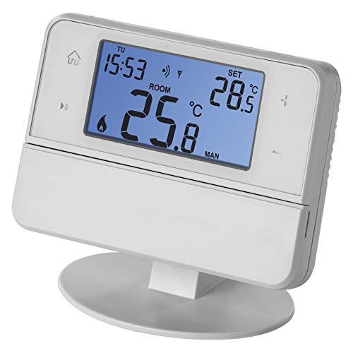 Emos Termostato inalámbrico con Soporte OpenTherm, termostato programable para Sistemas de calefacción, emisor + Receptor, regulador de Temperatura Ambiente para Montaje en Superficie., P5616OT