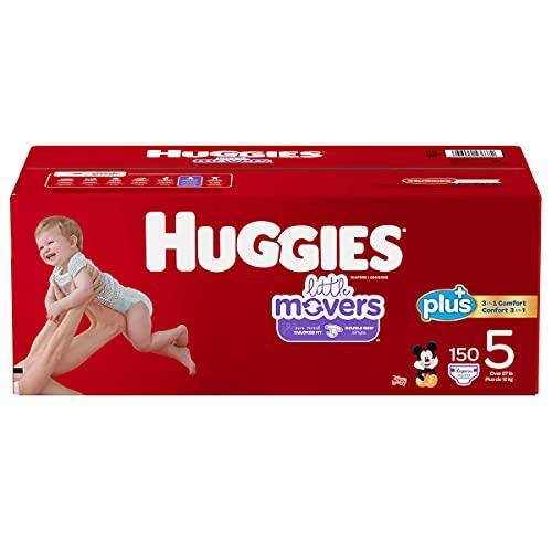 Huggies Pañales Little Movers Plus, tamaño 5, 150 unidades