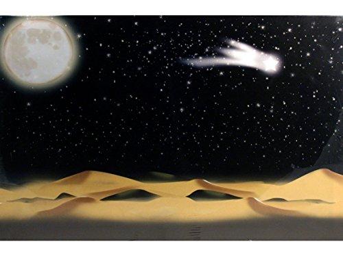 Ferrari & Arrighetti Fondale con Stelle Illuminate da Fibre Ottiche (Batteria) - Bertoni presepe Linea Natale