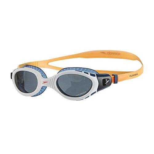 Speedo Goggles Futura Biofuse Flexiseal Triathlon, Fluo Orange/White/Smoke, One Size, 8-11256B985