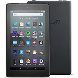 Tablet Fire 7, schermo da 7´´, 16 GB, (Nero) - Con pubblicità
