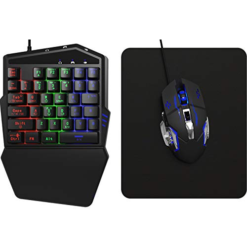 DarkWalker FO217 Gaming Pack, Keyboard and Mouse Combo for PS4, Xbox One, Switch, PS3, Xbox 360