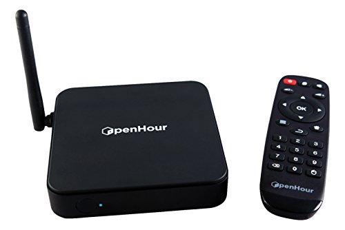 Open Hour OH-Gecko 4K / UHD Android Mediaplayer mit optimiertem Kodi Quadcore (1GB RAM, 8GB ROM, USB 3.0, WLAN) schwarz