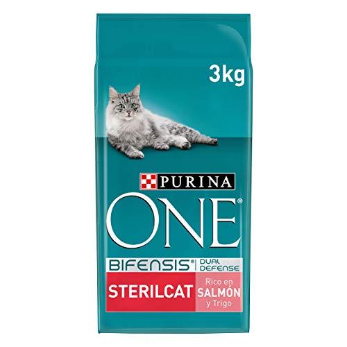PURINA ONE Bifensis Pienso para Gatos Esterilizados Salmón y Trigo 4 x 3 Kg ✅
