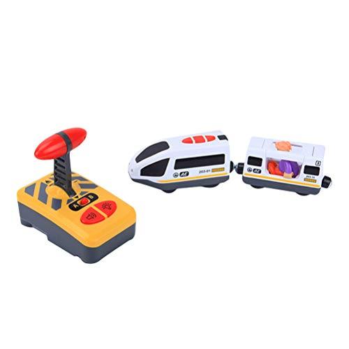 Toyvian Tren de Control Remoto eléctrico Juguete de Tren RC Modelo de Juguete Juguete Educativo para niños Niños (Sin batería)