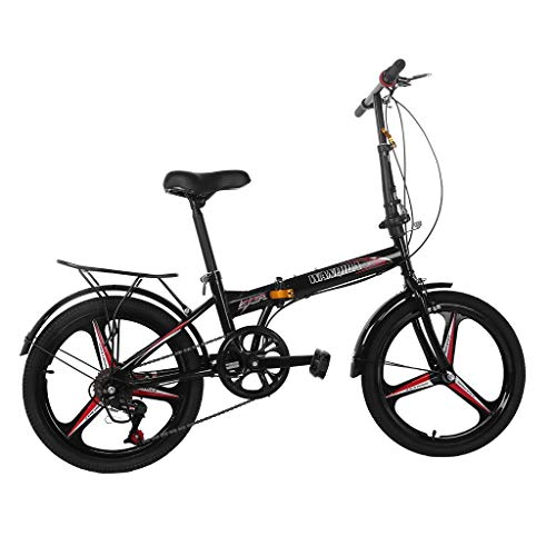 20 Inch 7 Speed Folding City Bike Bicycle for Adults Teens & Kids | City Commuter Bike Outdoor Road Bike Compact Leisure Bike | Outdoor Commut Cycling Compact Folding Bicycle for Adult & Students