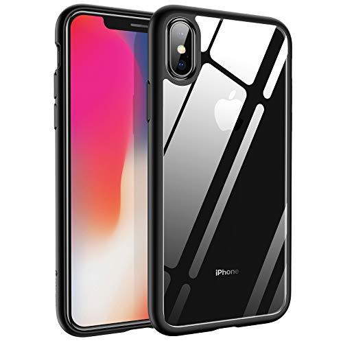 Syncwire Funda iPhone X - UltraRock Serie Carcasa para iPhone X con Protección Avanzada Ante Caídas y Tecnología de Cámara de Aire Protectora para iPhone X/10 (2017) - Color Negro Mate - 5.85 pulgadas