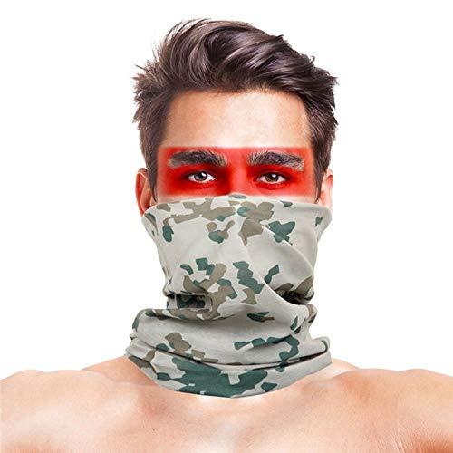 XCLWL Buff Neck Fietsen Bandana Camouflage Hardlopen Sjaal Camo Tactische Rijden Wandelen Polsband Hoofdband Tube Kerchief