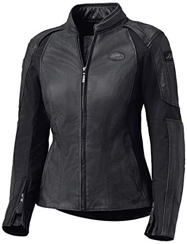 Held Viana modische Damen Motorrad Lederjacke, Farbe schwarz, Größe 44