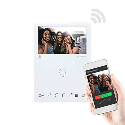 Monitor Manos Libres WiFi de Comelit con Reconocimiento Facial
