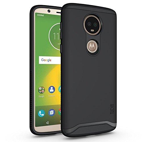 TUDIA Motorola Moto E5 Plus Hülle, Slim-Fit Merge Dual Layer Schutzhülle für Motorola Moto E5 Plus (Matte Black)