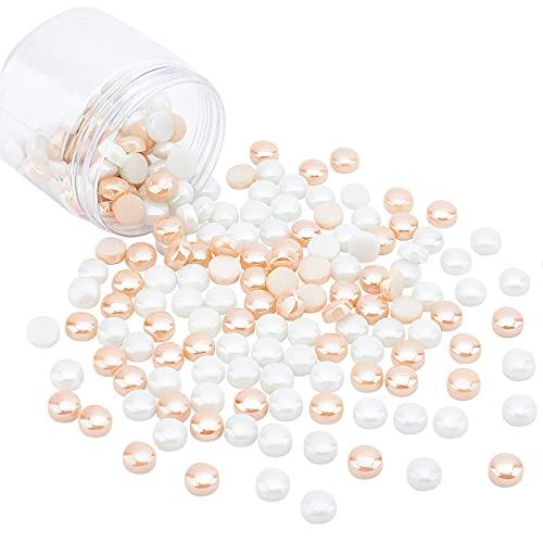 NBEADS Alrededor de 180 piezas de cabujones de cristal de 11,5 mm, cabujones redondos planos, azulejos de mosaico para colgantes de fotos de cameo, manualidades, fabricación de joyas