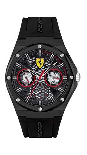 Scuderia Ferrari Reloj Cosa análoga para de los Hombres de Cuarzo con Correa en Silicona 830785