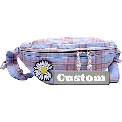 Personalizado Nombre Personalizado Casual Sling para Mujeres Hombres Crossbody Bolsa de Hombro Mini Daypack Senderismo (Color : Blue, Size : One Size)