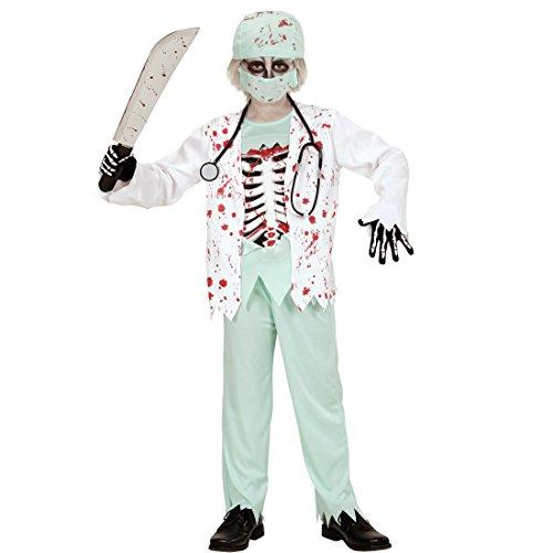 NET TOYS Kinder Zombie Kostüm Doktor Kinderkostüm M 140 cm Halloween Zombiekostüm Arzt Halloweenkostüm Junge Horror Chirurg Jungenkostüm Krankenhaus Arztkostüm Junge