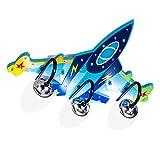 LI- Plafonnier d'avion pour enfants à LED, plafonnier pour garçon avec protection des yeux au dessin animé créatif, éclairage chaleureux et personnalisé de la chambre des enfants