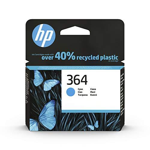 HP 364 CB318EE, Cian, Cartucho de Tinta Original, de 300 páginas, para impresoras HP Photosmart serie C5300, C6300, B210, B110 y Deskjet serie 3520