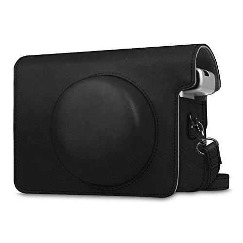 Fintie Schutzhülle für Fujifilm instax Wide 300 Sofortbildkamera - Premium Tasche Reise Kameratasche Hülle Abdeckung mit abnehmbaren Riemen, Schwarz